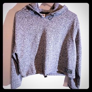 Grey crop hoodie from PINK, size Small